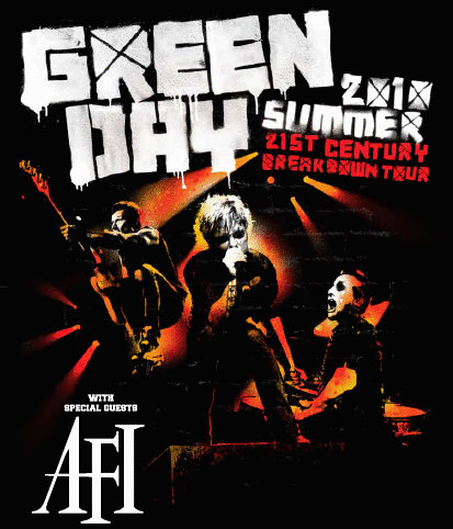 Green Day on tour with AFI