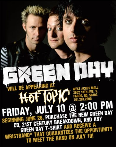 Green Day at Hot Topic