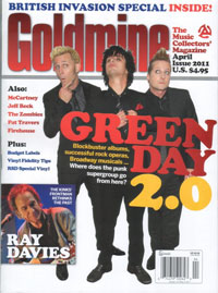 Green Day Goldmine Magazine Cover