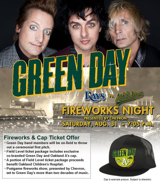 Green day a s baseball game