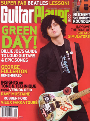 Green Day Guitar Player Magazine